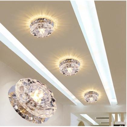 Webetop Modern Luxury Ceiling Crystal Light Small Lamp Aisle Lights Bovine Led