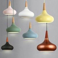 펜 던 트 램프 LED 펜 던 트 조명 현대 노르딕 교수형 램프 알루미늄 교수형 luminaire 나무 빛 독창성 침실 간단한