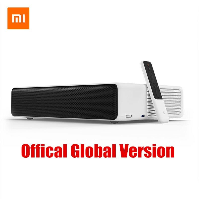 Оригинальный лазерный проектор Xiao mi jia tv дюймов 150 дюймов Multi language 4 К Full HD с DOLBY DTS 3D HDR mi домашний кинотеатр купить на AliExpress