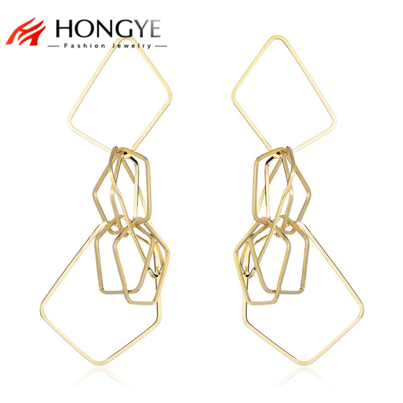 Punk Rock Hip hop Metal Geometric Drop Earrings for Women ...