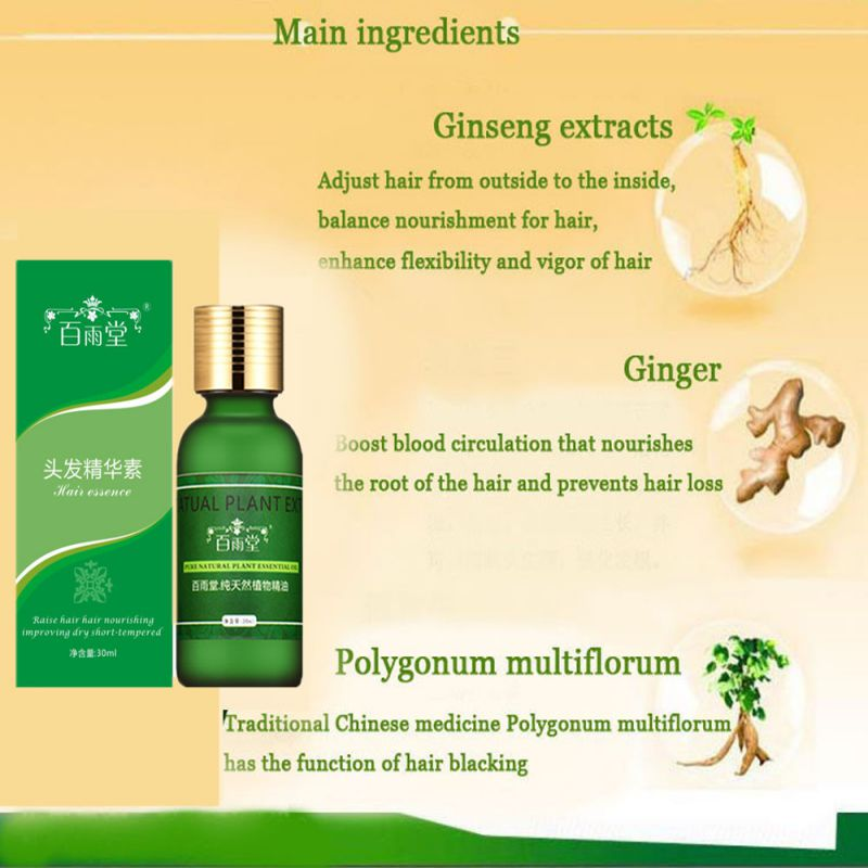 Купить с кэшбэком 30ml Ginger Natural  Hair Growth Essential Oils Essence Original Hair Loss Products Beauty Dense Hair Care Serum