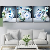 3 pieces Beautiful Vase Pattern diy Diamond Painting Cross Stitch Modern Diamond Mosaic Living Room Restaurant Wall Decoration