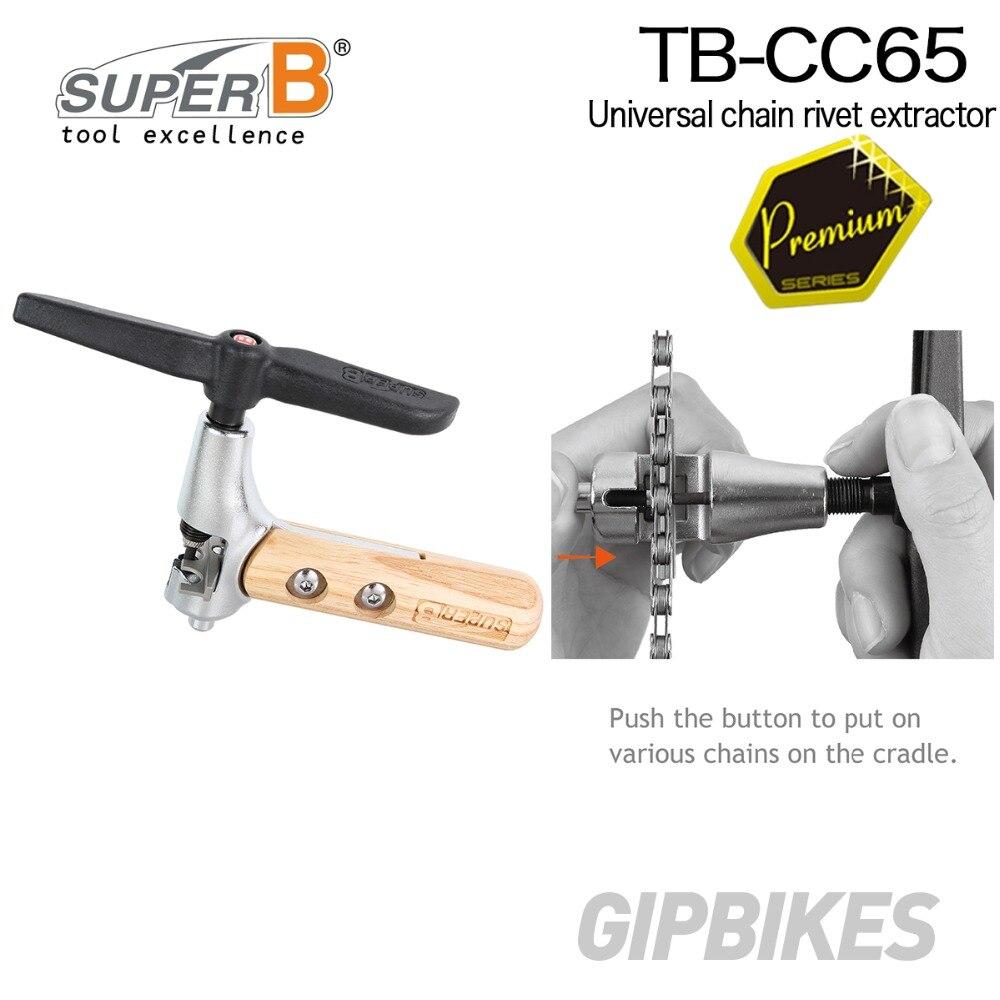 Super B TB-CC65 extracteur de rivet de chaîne de vélo universel avec un berceau réglable pour toutes les chaînes 5 ~ 11 vitesse outil de chaîne d'outil de vélo