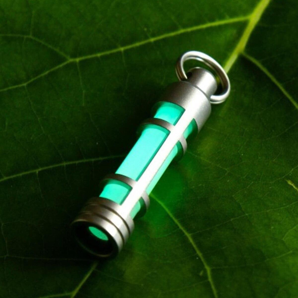 Porte-clés en titane tritium porte-clés lumineux lampe à gaz tritium lumières de secours de sauvetage lumière automatique 25 ans