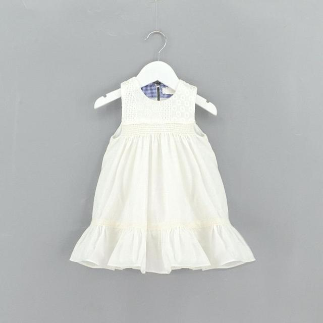 886c2152c0f9 2017 Girls Floral Embroidered Summer Cotton Dress Ruffles Sweet Baby ...