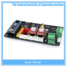 Engraving Electronic Control Panel Three Axis Stepper Motor Drive Controller Motherboard with A4988 & Nano 3.0