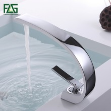 """FLG Basin Faucet Grilled White Painted Cast Deck Mounted Single Lever Single Hole Basin Tap """"C' Model Cold&Hot Wasserhahn 113-11"""