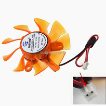 5 pieces Gdstime Computer Radiator Cooling Fan 75mm 12V 2Pin for VGA Video Graphics Card Cooler