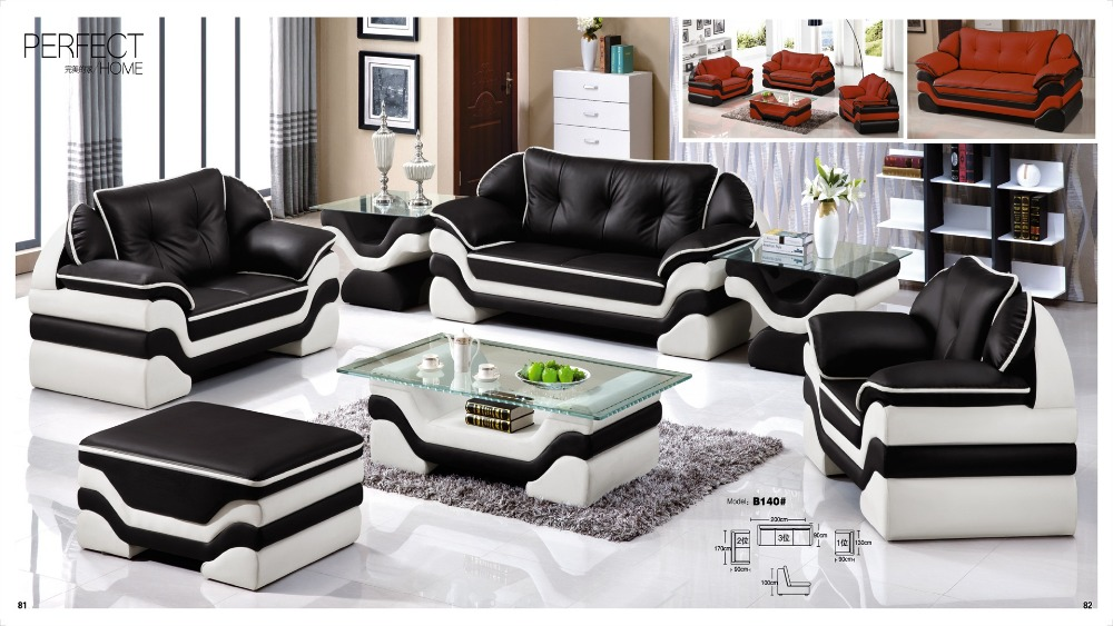 Iexcellent modern design genuine leather sectional sofa ...