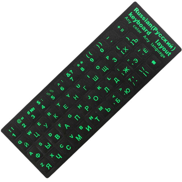 Russian-Keyboard-Stickers-For-Mac-Book-10-to-17-Laptop-PC-Standard-Layout-Black-with-Blue