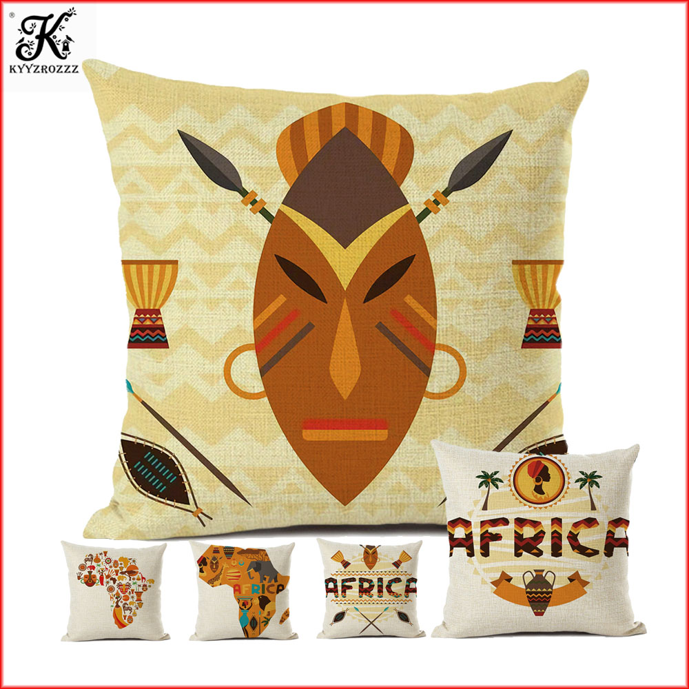 Superior Nordic Africa style linen cotton cushion sofa home decoration Automobile cover 45X45CM