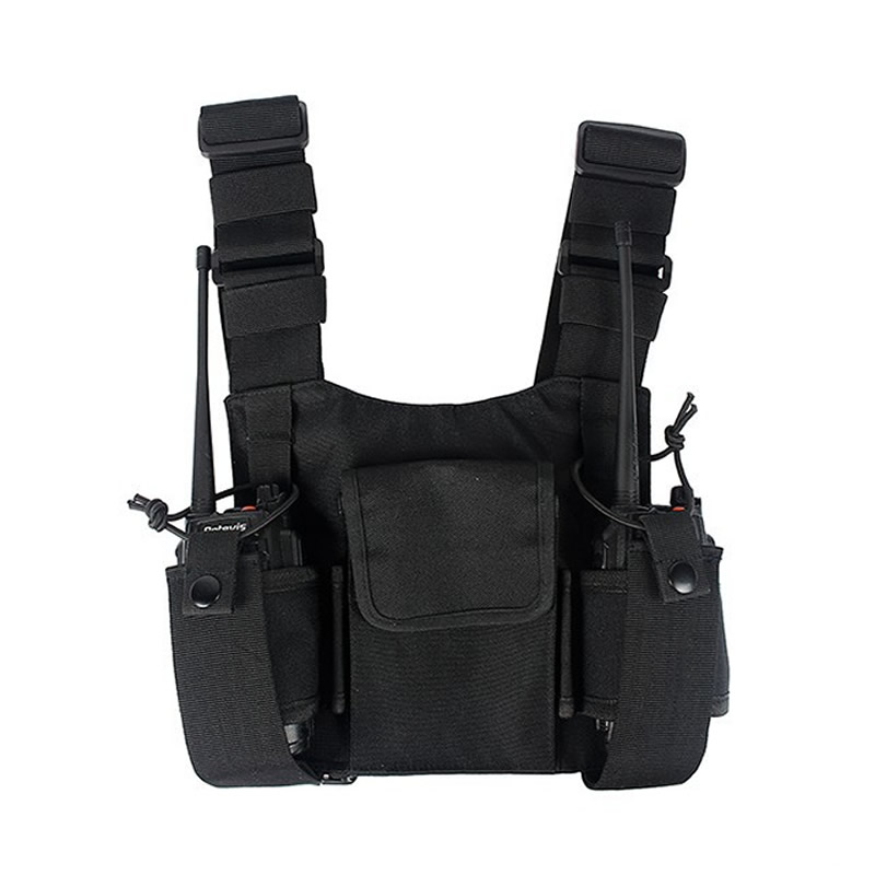 Radio Chest Harness Chest Front Pack Pouch Holster Vest Rig Chest Bag For Walkie Talkie Motorola Baofeng TYT Wouxun
