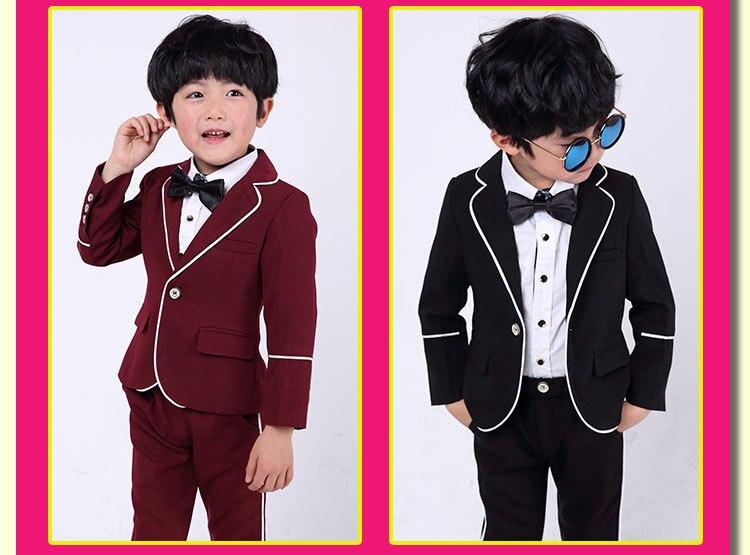 819d2d941 Escuela traje para bodas fiesta 2T-12Y niños Slim Fit juego Formal ...
