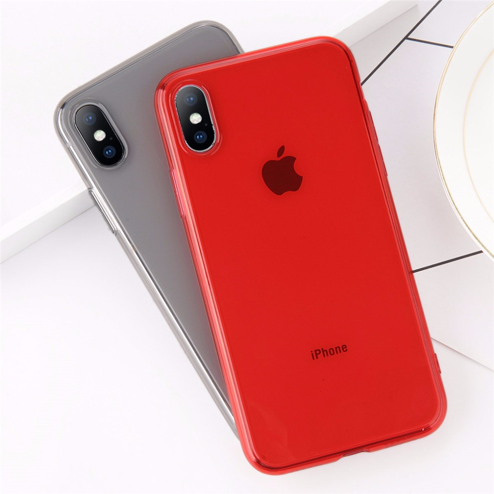 ee46481ebda43 Clear TPU Silicone Case For iPhone X 8 Plus Ultra Thin Transparent Back  Cover for iPhone