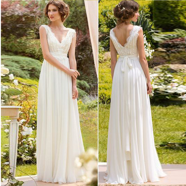 8b0905ed3 2019 New Arrival Spring Bohemian Bridal Wedding Dress A Line Chiffon Bridal  Gowns Custom Made