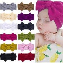 Повязки на голову для маленьких девочек; повязка на голову для новорожденных; Детская повязка на голову; Бандо; Bebe FilleToddler; тканевые повязки на голову с бантом; тюрбан; аксессуары для головных уборов