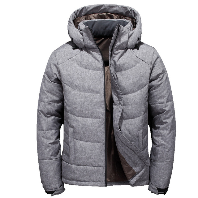 Étanche Manteau argent 2018 Col Pour Solide Noir Parkas Debout Hommes vent  Décontracté Mode Veste Taille Doudoune D hiver ... 8230fd6bc3e