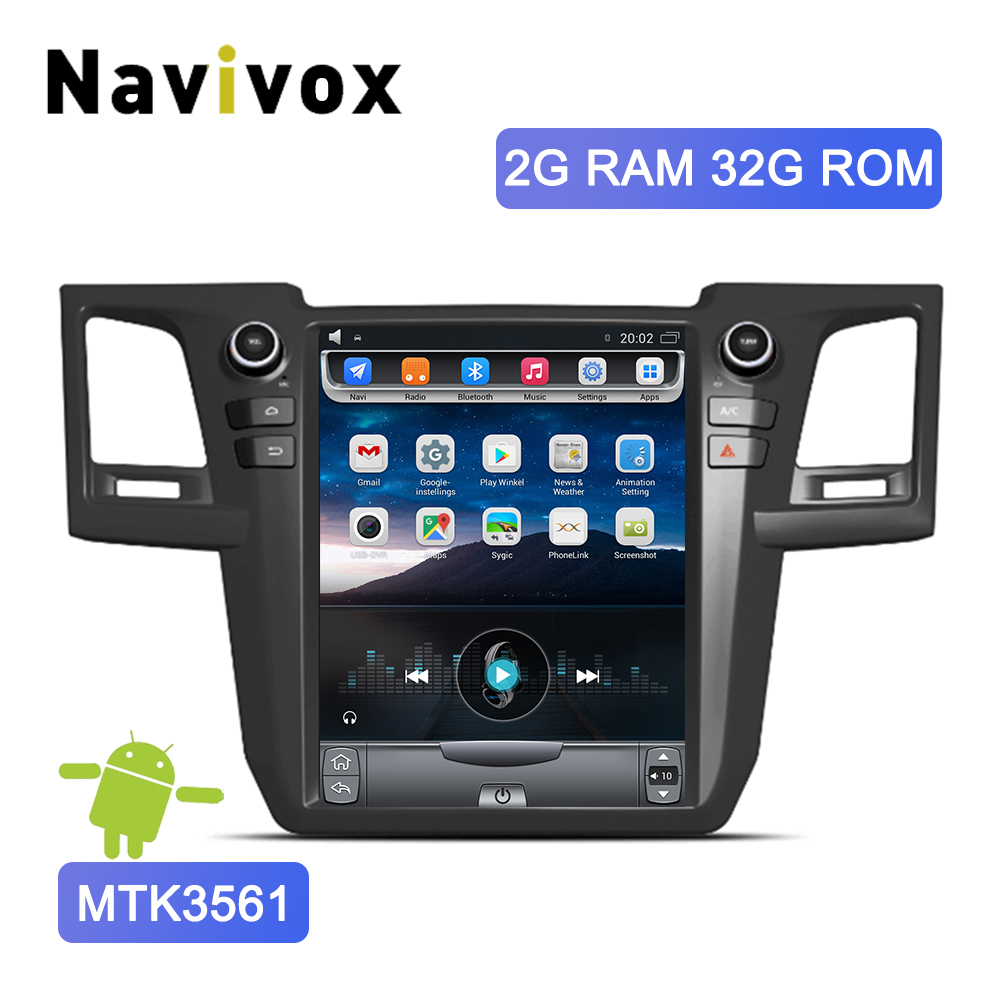 Navivox 12.1 Tesla Type Vertical Screen Android 6.0 Car DVD Radio For Toyota Fortuner Hilux 2010-2016 GPS Navigation MonitorNavivox 12.1 Tesla Type Vertical Screen Android 6.0 Car DVD Radio For Toyota Fortuner Hilux 2010-2016 GPS Navigation Monitor