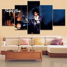 Framework HD Printing Painting Wall Art Pictures 5 Pieces Purple rain Prince Type Poster Home Decorative For Modern Bedroom