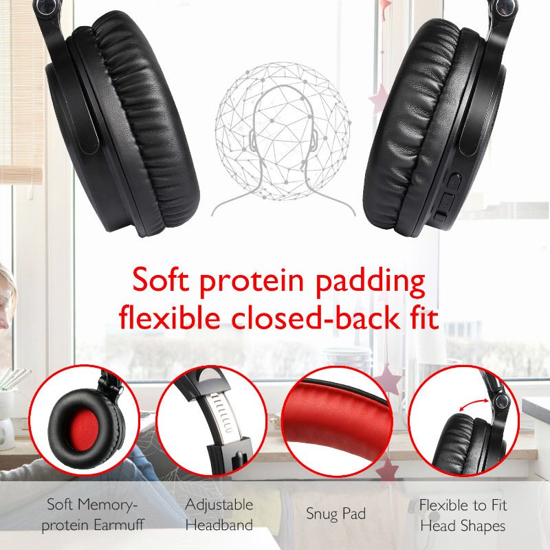 Image 2 - Oneodio Wired Wireless Bluetooth Headphone With Mic Volume  Control Stereo Bluetooth Gaming Headset For Phone Computer PC  GamerBluetooth Earphones