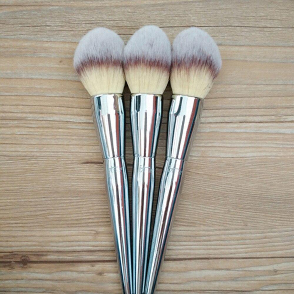 Vander Professional Large Silver Powder Brush Blush Soft Brush Foundation Makeup Tool Cosmetics Makeup Blush  maquiagem