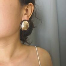 2019 Vintage Geometric Irregular Square Stud Earrings Statement Minimalism Gold Metal for Women Jewelry Brincos