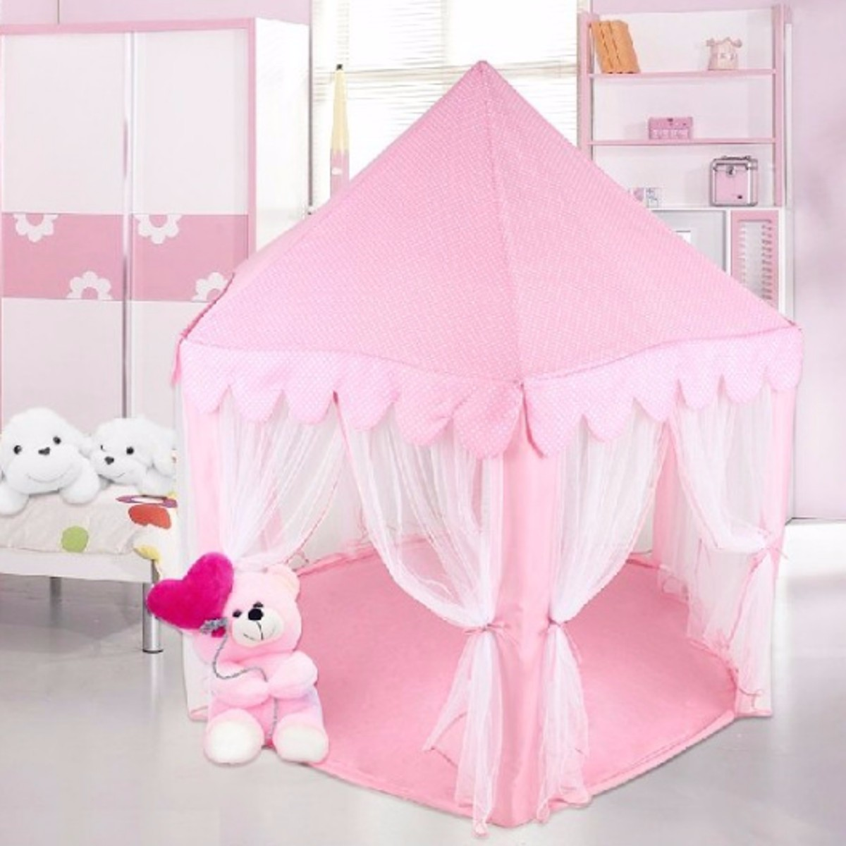 portable princess castle play tent activity fairy house fun playhouse beach tent baby playing. Black Bedroom Furniture Sets. Home Design Ideas