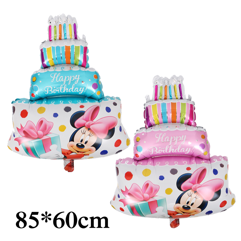 Prime Large 85 60Cm Minnie Mickey Foil Balloon Birthday Cake Mickey Baby Birthday Cards Printable Riciscafe Filternl