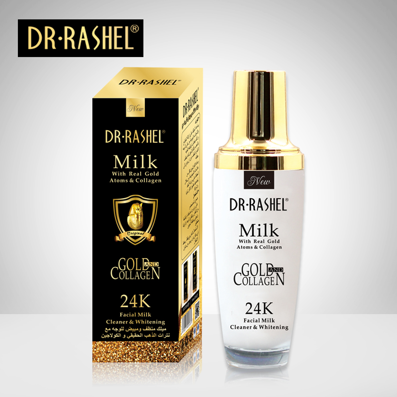 DR RASHEL Real Gold Atom collagenfacial milk cleaner whitening Acne Treatment Whitening Face Ageless Skin care 100ML camino real gold купить грн