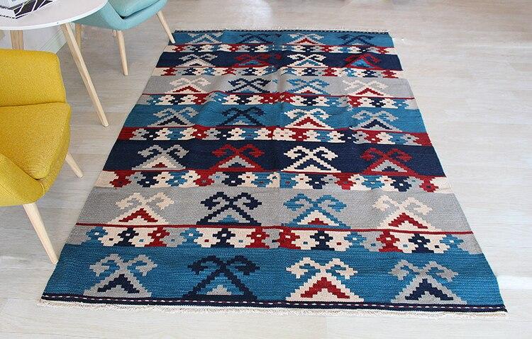 Kilim tapis laine tapis noué à la main nouvelle annonce Vintage modernisme géométrique laine tapis tapis - 3