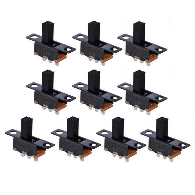 US $0 91 30% OFF|Aliexpress com : Buy 10pcs Black Small SPDT Switch Durable  ON Off Miniature Slide Toggle Switches DIY Power Electrical Component 100V