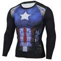 2017 Новая Мода Фитнес Сжатия Рубашка Мужчины Косплей Мужчины Crossfit Плюс Размер Бодибилдинг Мужчины майка 3D Печатные Супермен Топ