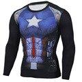 2017 de Moda de Nova Camisa Dos Homens De Compressão De Fitness Crossfit Cosplay Masculino Plus Size Homens Musculação camiseta 3D Impresso Superman Topo