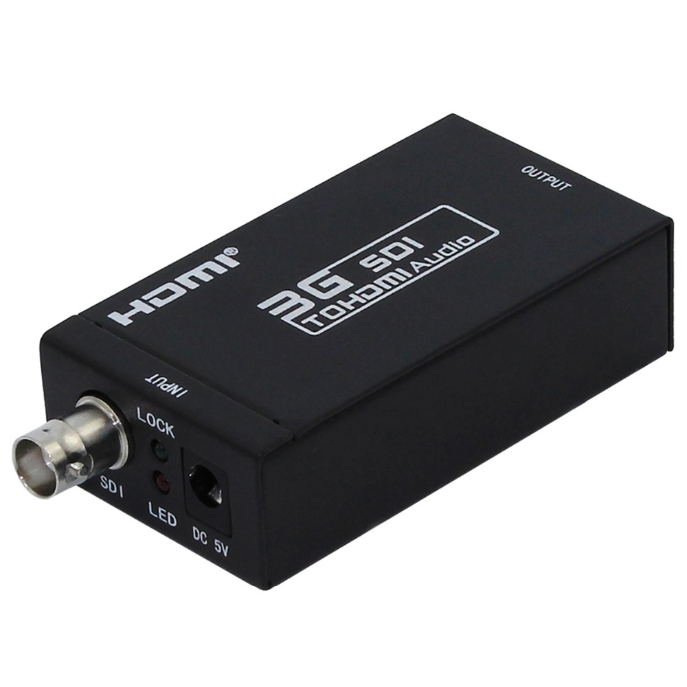 1pcs/Lot, Mini SDI to HDMI Converter SD-SDI/HD-SDI/3G-SDI to HDMI Adapter Supports 720p 1080p with sdi cable and adapter