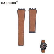 22mm Classic Silicone & Leather Watchband For TAG HEUER Series Unisex Quality Band Soft Watch Strap For CARRERA Wrist Bracelet все цены