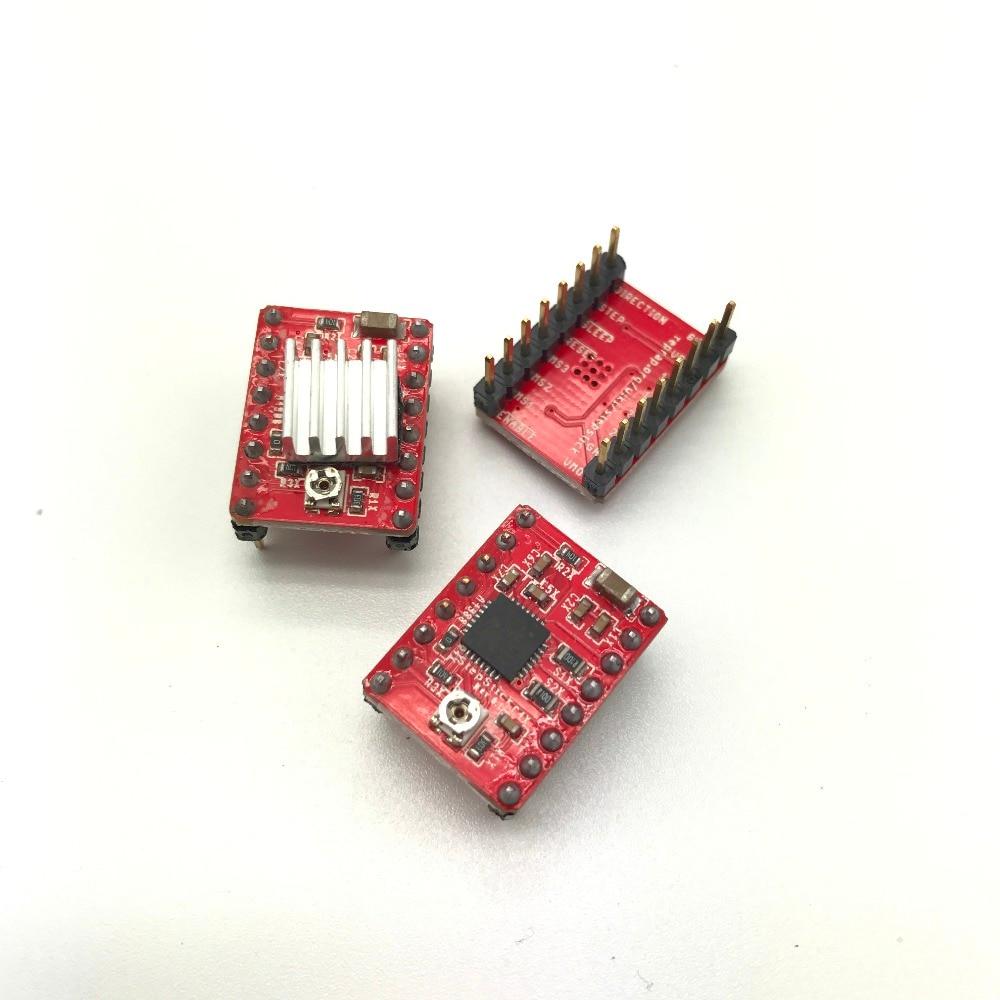 3 piezas Reprap Stepper Driver A4988 Stepper Motor Driver Module Dropshipping color: rojo