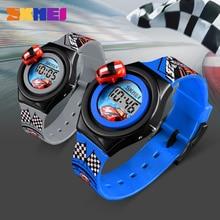 SKMEI Cartoon Car Kids Watches Fashion Digital Electronic Boy Girl Wristwatches