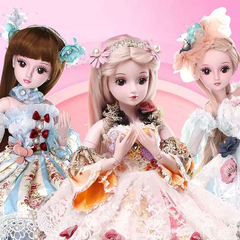 DIY Dolls 13 Styles 1/3 BJD SD Girls Doll 19 Ball Jointed Toys With All Outfits Makeup Children Dressup Gifts for children ucanaan 1 3 bjd dolls beauty sd doll 19 ball jointed with full outfits makeup dressup dolls children toys for girls