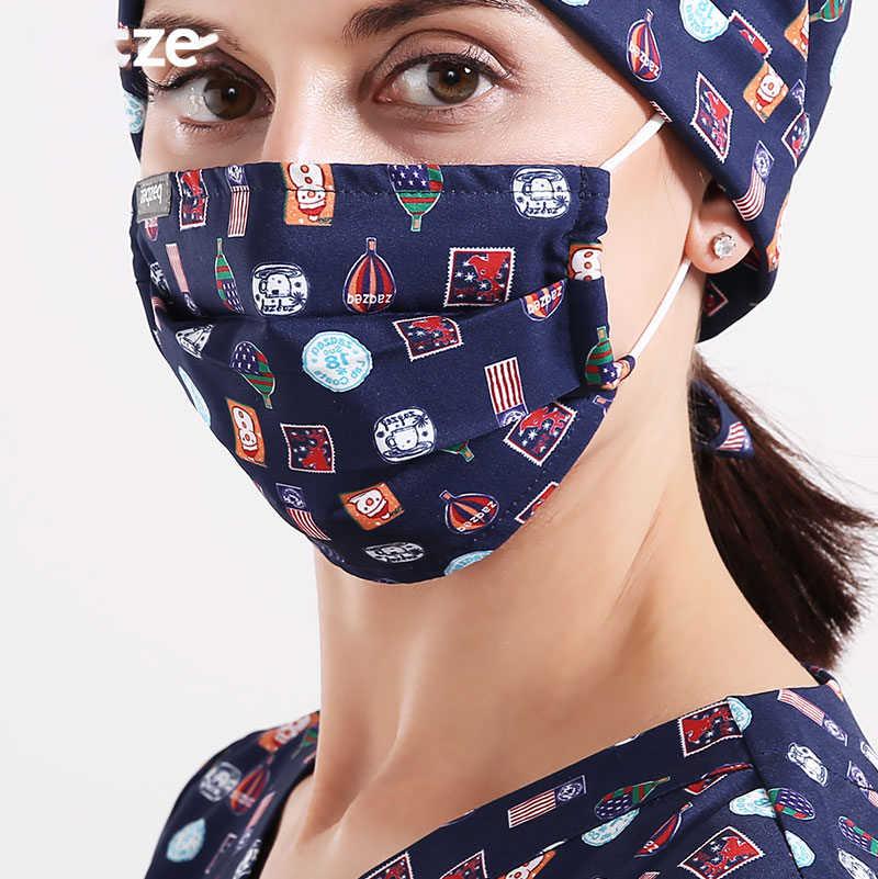 Mask Veterinary Pattern 23 Surgical Colors Quality Nurse Hospital Doctor Dentist Work Masks Cotton Adjustable Medical