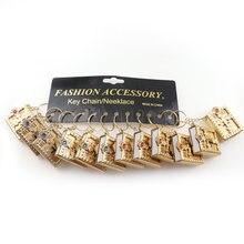 Mini porte-clés en cuir Version anglaise, 12 pièces/lot, Mini, religieux, chrétien, saint Bible, livre anglais, cadeau