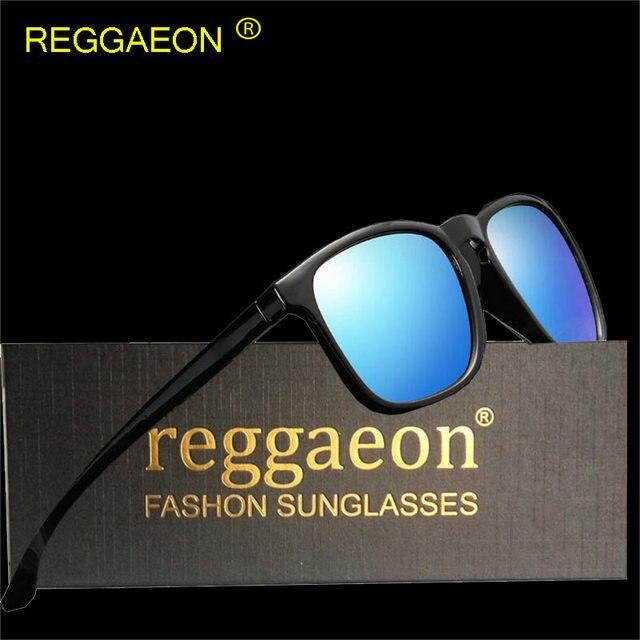 80a7e99b5a50c Reggaeon 2018 HD Quadrado Polarizada Óculos De Sol Dos Homens Mulheres de  Design Da Marca