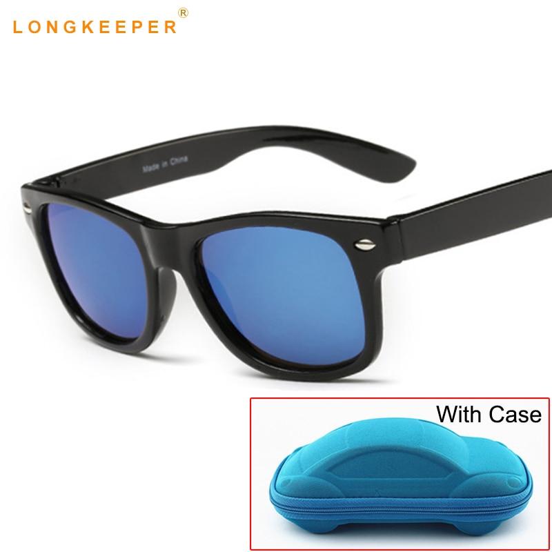 Children UV400 Sunglasses kids Children Cool Sun Glasses 100%UV Protection Eyeglasses Sunglasses For Travel Boy Girl With Case