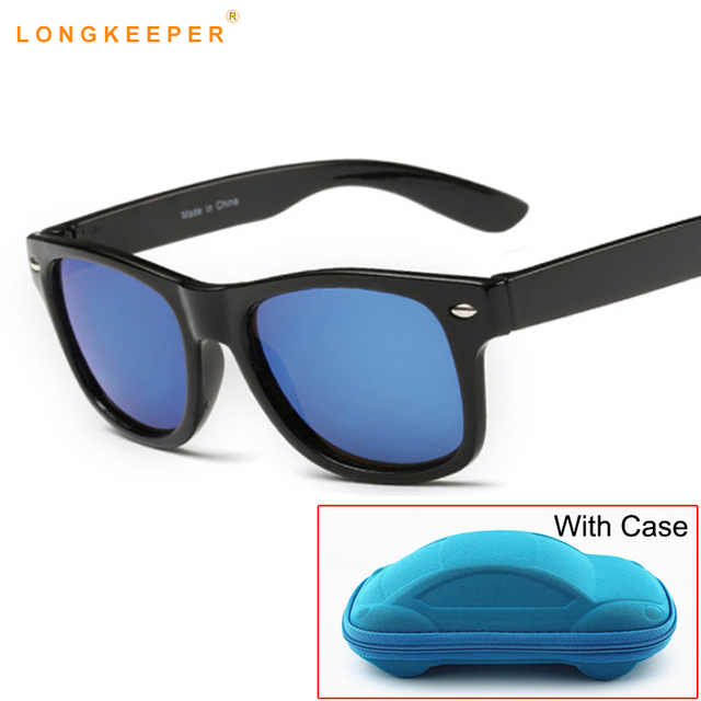 50163859e5 Children UV400 Sunglasses kids Children Cool Sun Glasses 100%UV Protection  Eyeglasses Sunglasses For Travel Boy Girl With Case