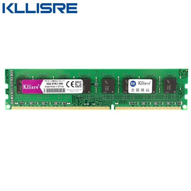 Kllisre DDR3 8 ГБ ОЗУ 1600 мГц 240 контактов 1,5 В non-ECC desktop памяти