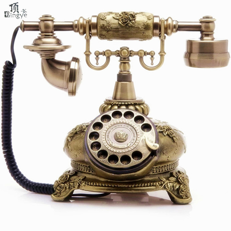 Ye are the top rotating disc antique European Garden retro home office telephone landline telephone Decoration home art rustic