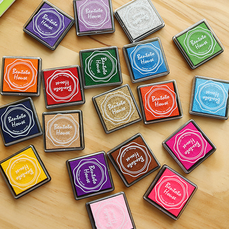 20Colors DIY Scrapbooking Vintage Crafts Ink Pad Colorful Rubber Stamps Finger Painting Inkpad