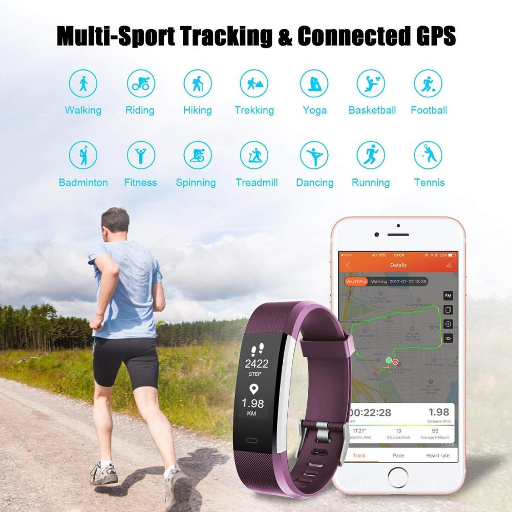 Fitness watch pedometer step counter calculator exersize calorieletscom walktracker healthdigital treadmill reloj bracelet in Pedometers from Sports Entertainment