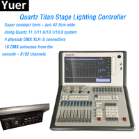 Free Shipping dmx Console DMX 512 Controller Titan 11.1/11.0System 12.1'' touch screen Super compact form 8192 DMX Channels