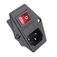 1PC 250V 10A Male AC Power Cord Inlet Plug Socket With Rocker Switch Fuse Holder SA179re