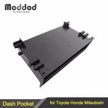 1 Din стерео радио Refitiing хранения Карманный ящик Spacer для Toyota монтажа отделка фасции комплект